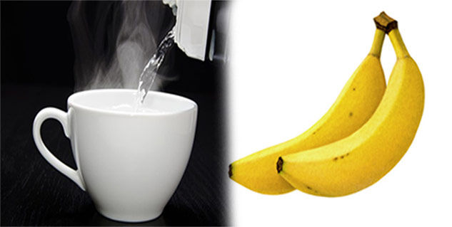 banana and warm water in hindi